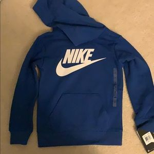 NWT: Nike Royal Blue hoodie, toddler size 4